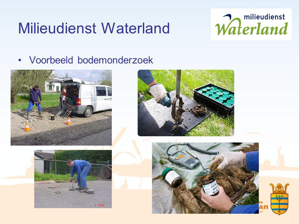Milieudienst Waterland Voorbeeld bodemonderzoek