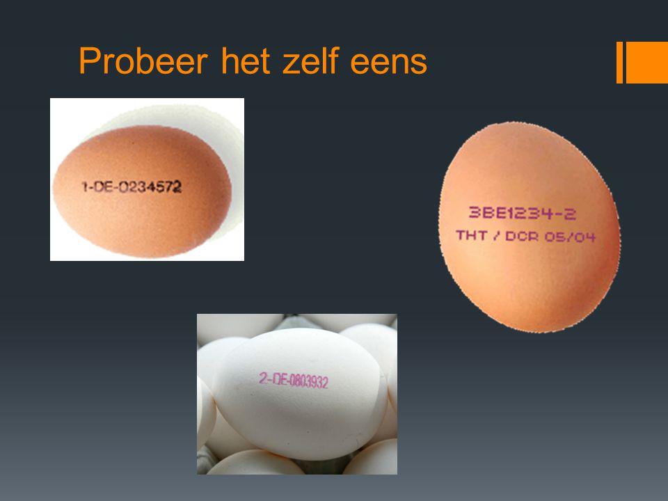 Het bewaren van eieren  Koel bewaren  28-30 dagen houdbaar  Liefst met de punt naar beneden.