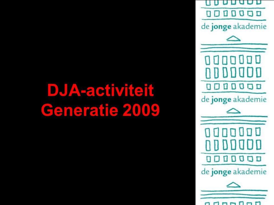 DJA-activiteit Generatie 2009