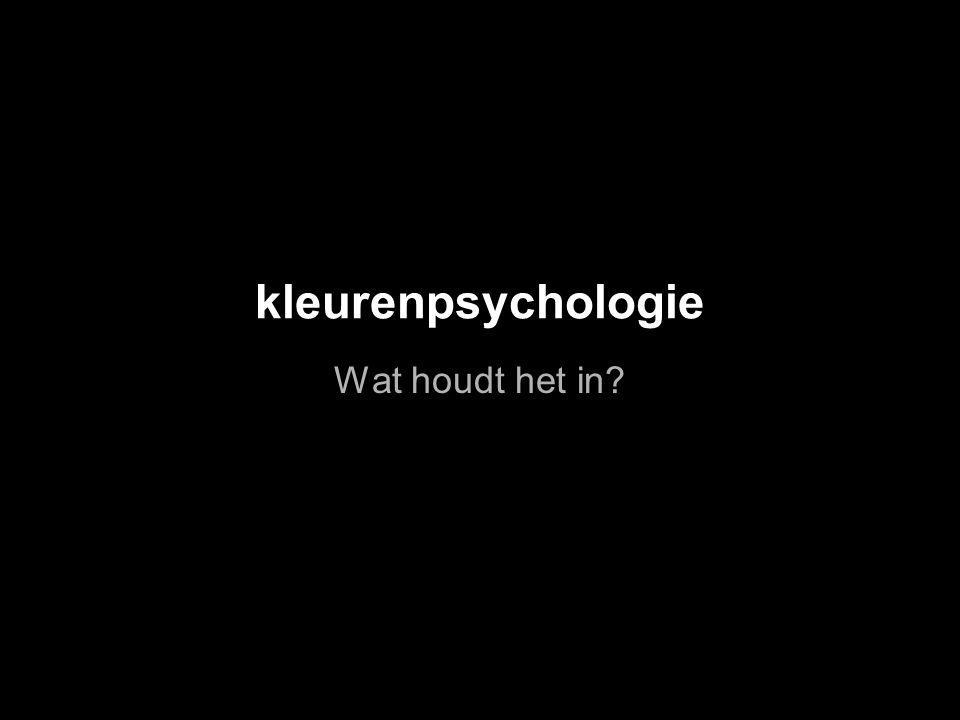 kleurenpsychologie Wat houdt het in?