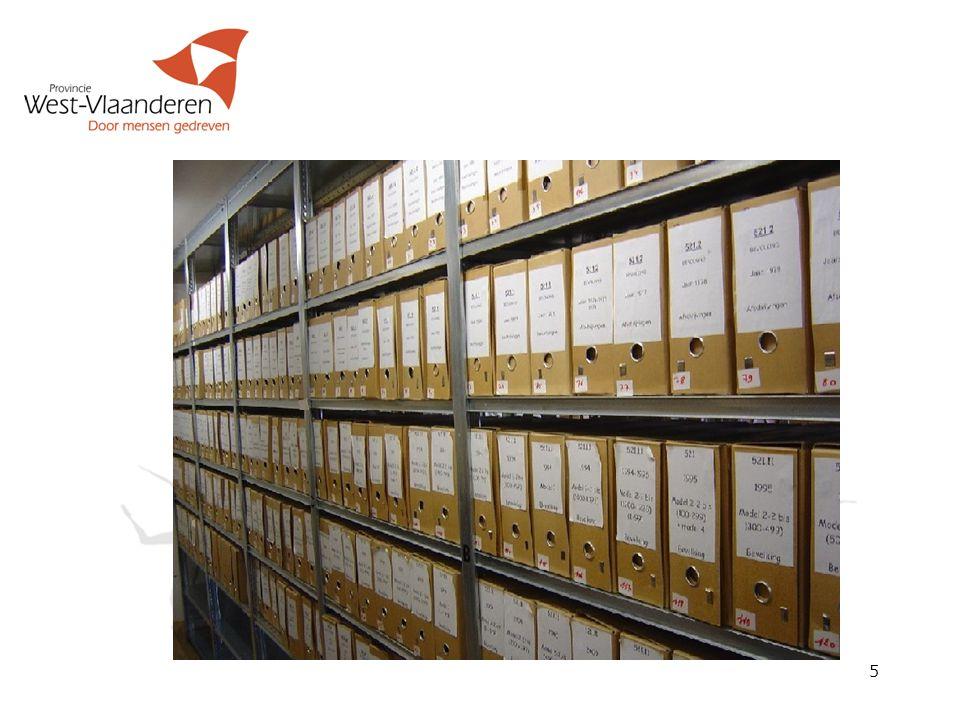 ARCHIEFZORG: de bestuurlijke verantwoordelijkheid voor het archiefbeheer (infrastructuur, financiële en personele middelen) 6