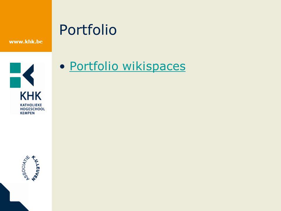 www.khk.be Portfolio Portfolio wikispaces