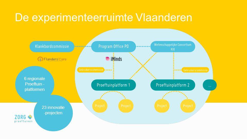 De experimenteerruimte Vlaanderen 6 regionale Proeftuin - platformen 23 innovatie -projecten