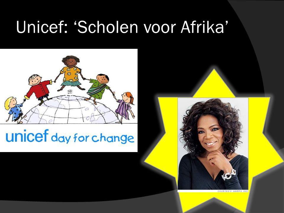 Unicef: 'Scholen voor Afrika'