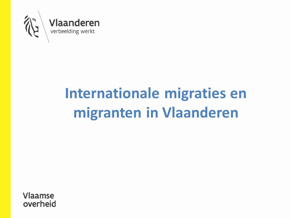 Internationale migraties en migranten in Vlaanderen