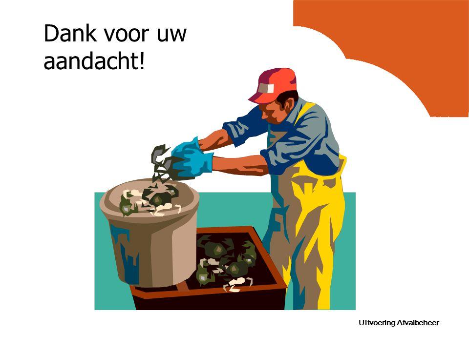 Uitvoering Afvalbeheer Dank voor uw aandacht!