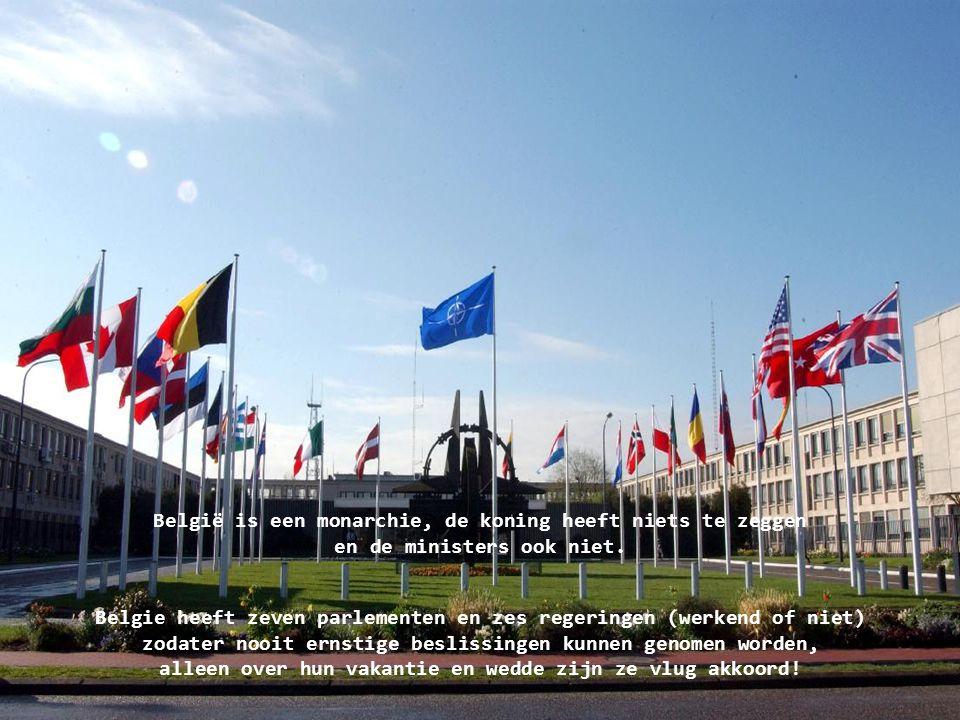 België is een monarchie, de koning heeft niets te zeggen en de ministers ook niet.