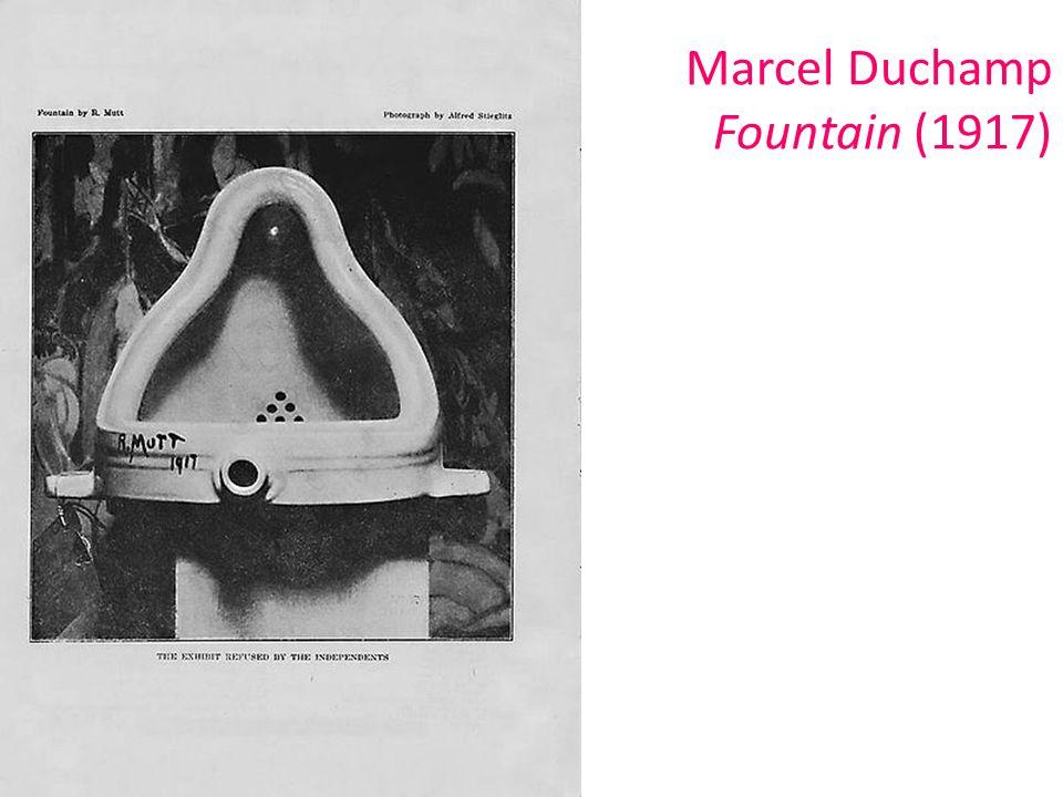 Marcel Duchamp Fountain (1917)