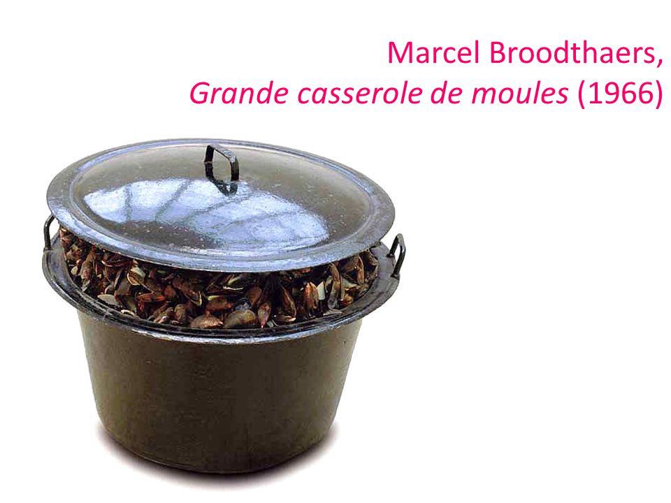 Marcel Broodthaers, Grande casserole de moules (1966)