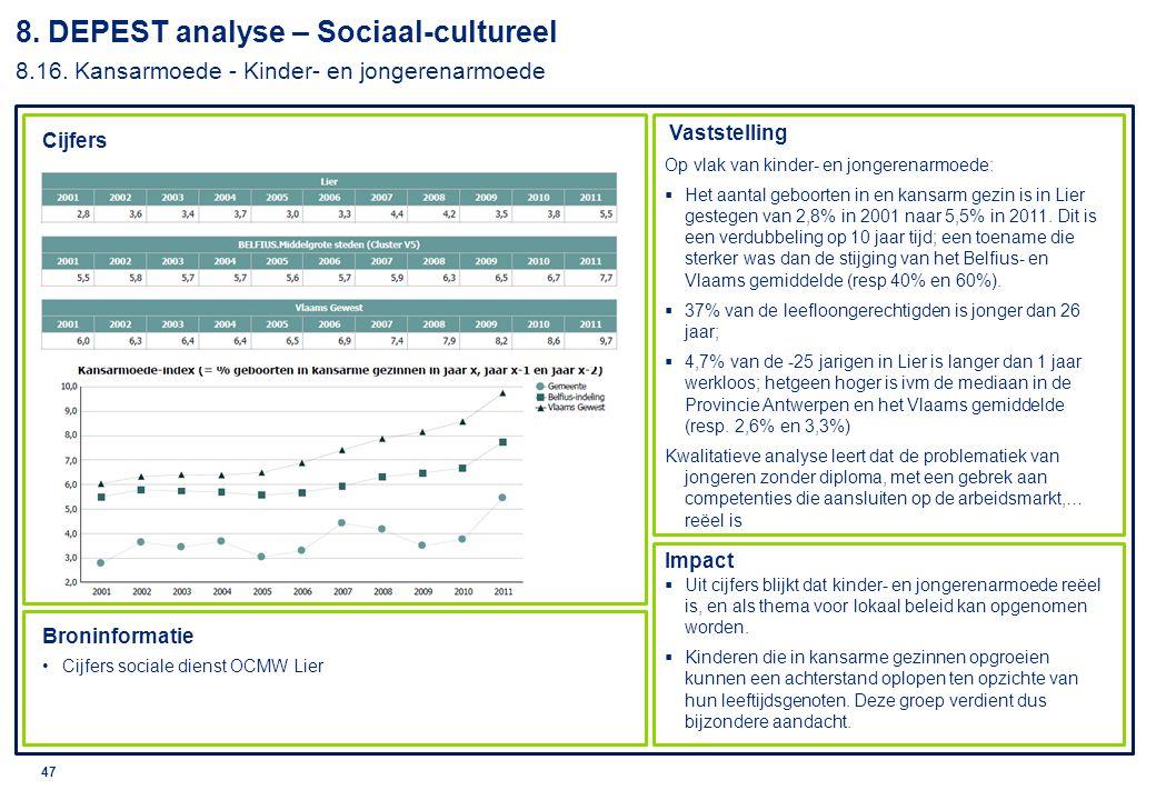 © 2010 Deloitte 48 8.DEPEST analyse – Sociaal-cultureel 8.17.