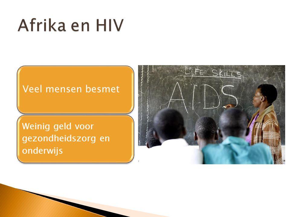 Veel mensen besmet Weinig geld voor gezondheidszorg en onderwijs
