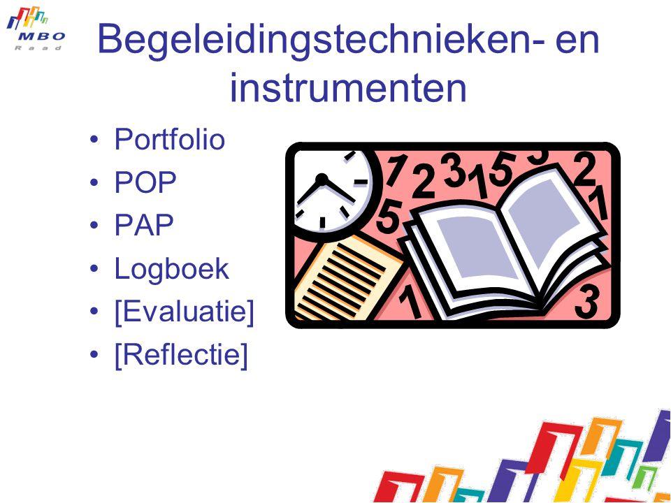 Begeleidingstechnieken- en instrumenten Portfolio POP PAP Logboek [Evaluatie] [Reflectie]