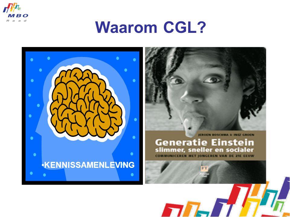 Waarom CGL? KENNISSAMENLEVING