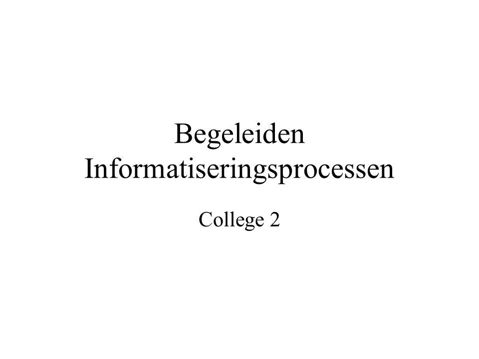 Begeleiden Informatiseringsprocessen College 2
