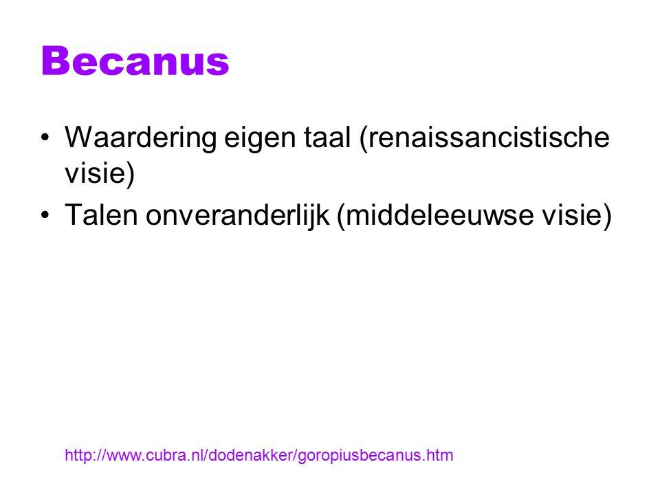 Antwerpse mode Op Brabants [op z'n Brabants] knopen sy [zij] haer [hun] mouwen Op Brabants fronsen zy haer brouwen [wenkbrauwen] Op Brabants segghense [zeggen ze] jae voorwaer, Op Brabants spreken sy alle gaer [allemaal], Op Brabants singhense haren sangh, Op Brabants makense haren gangh [lopen ze], Op Brabants Amsterdamse Dochters doet mijn bescheyt, [geef mij antwoord] Schaemt ghy u van de Hollantsche botticheyt.