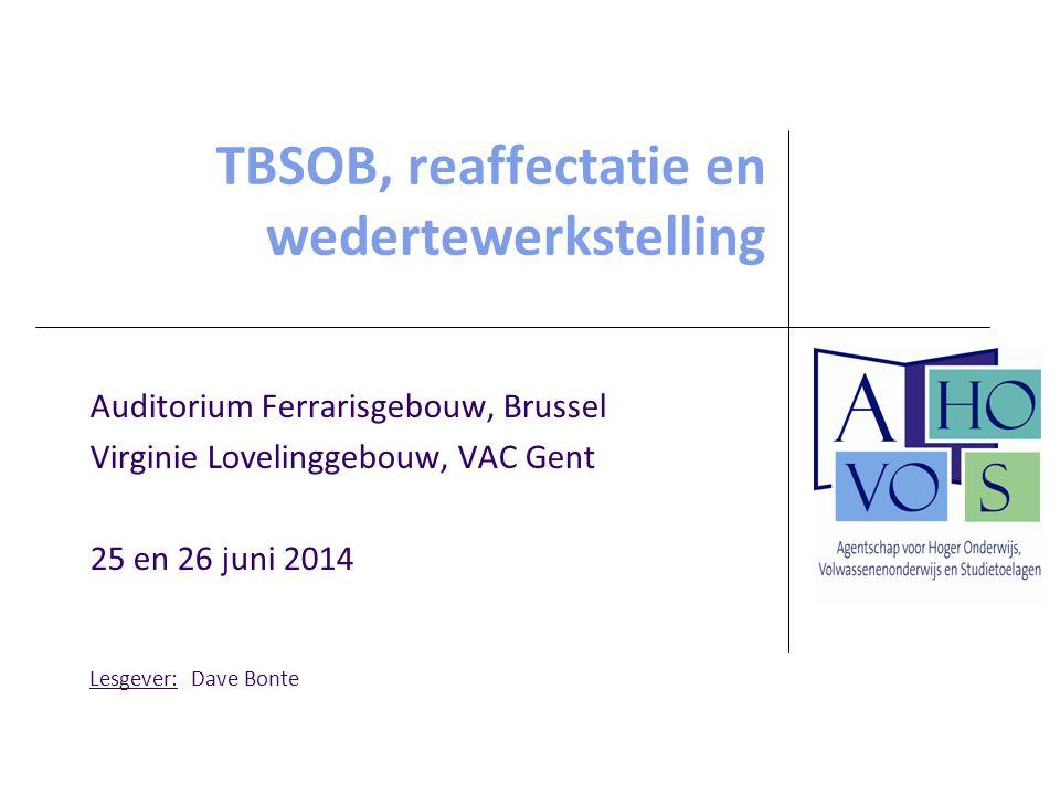Afdeling Volwassenenonderwijs TBSOB, reaffectatie en wedertewerkstelling bij het bestuurs- en ondersteunend personeel 72