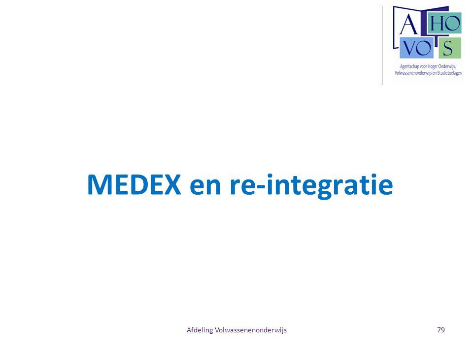 Afdeling Volwassenenonderwijs MEDEX en re-integratie 79