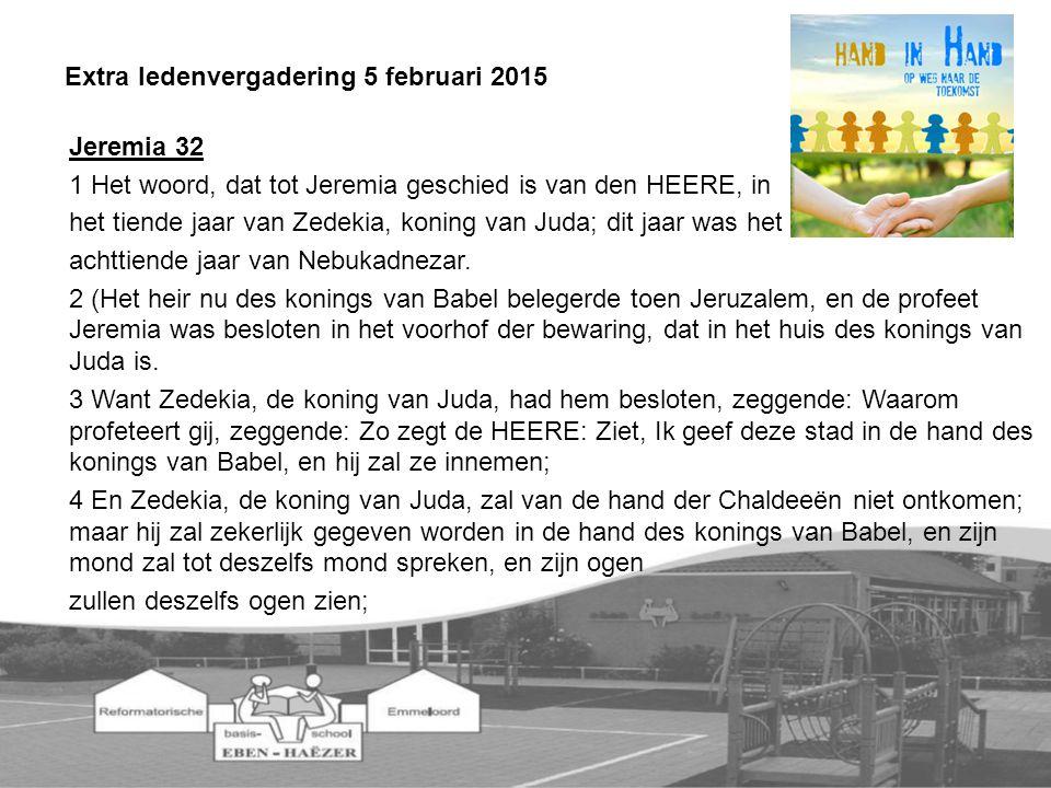 Jeremia 32 1 Het woord, dat tot Jeremia geschied is van den HEERE, in het tiende jaar van Zedekia, koning van Juda; dit jaar was het achttiende jaar van Nebukadnezar.