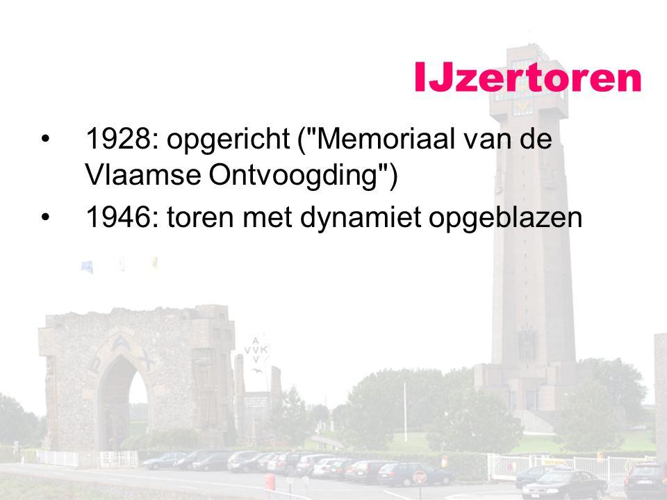 IJzertoren 1928: opgericht (