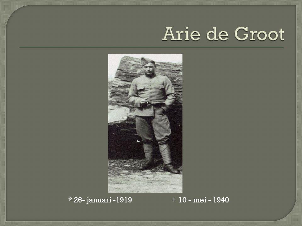 * 26- januari -1919 + 10 - mei - 1940
