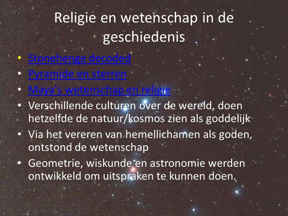 Religie en wetenschap in de geschiedenis Tot het begin van onze jaartelling bleef de wetenschap onderdeel van de religie.