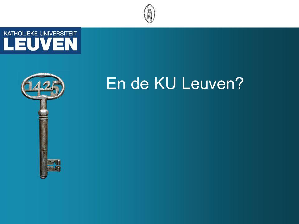 En de KU Leuven?