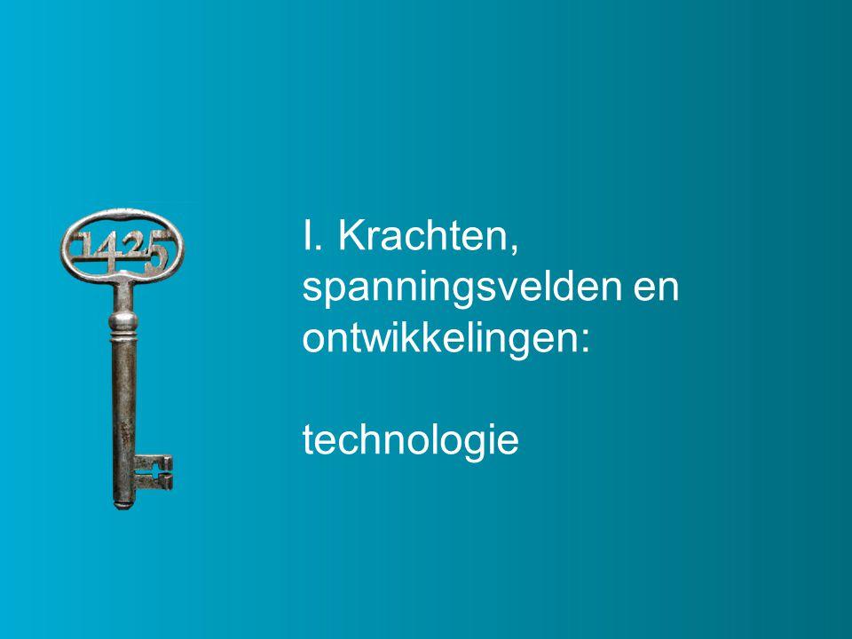 I. Krachten, spanningsvelden en ontwikkelingen: technologie