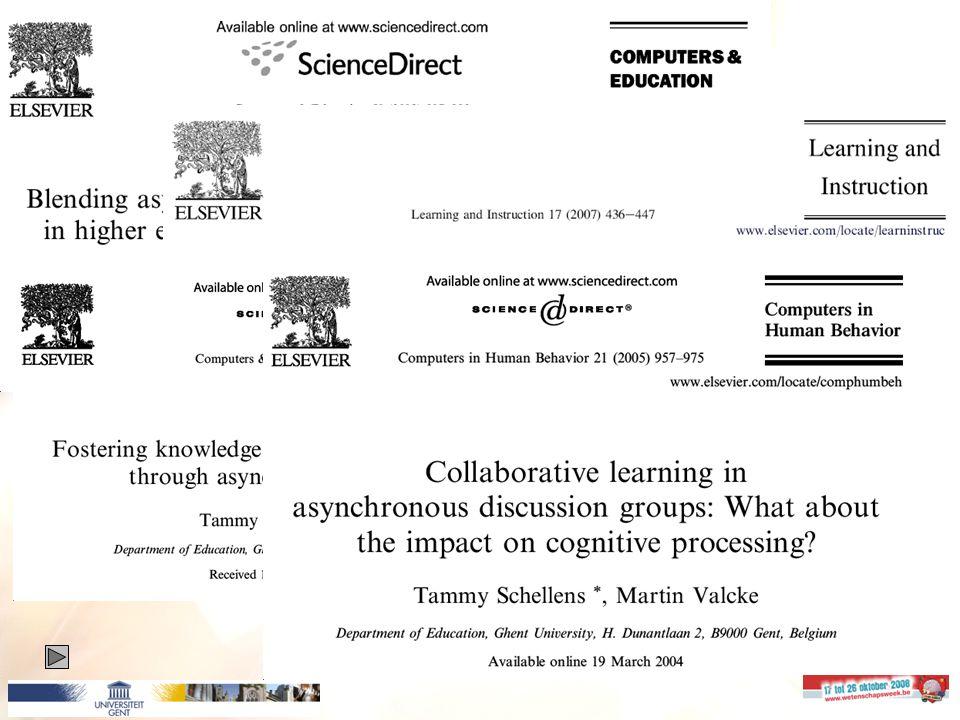 23 Leren via het Internet: hoe onderzoek je samenwerkend leren in discussiegroepen.