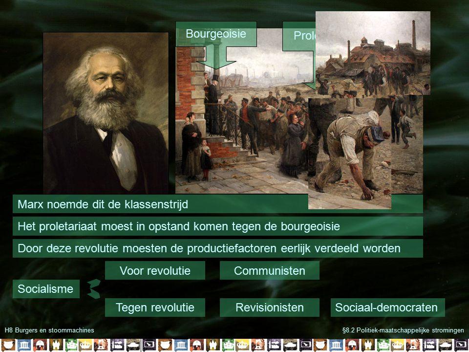 H8 Burgers en stoommachines§8.2 Politiek-maatschappelijke stromingen Wat moet je weten aan het eind van de les.
