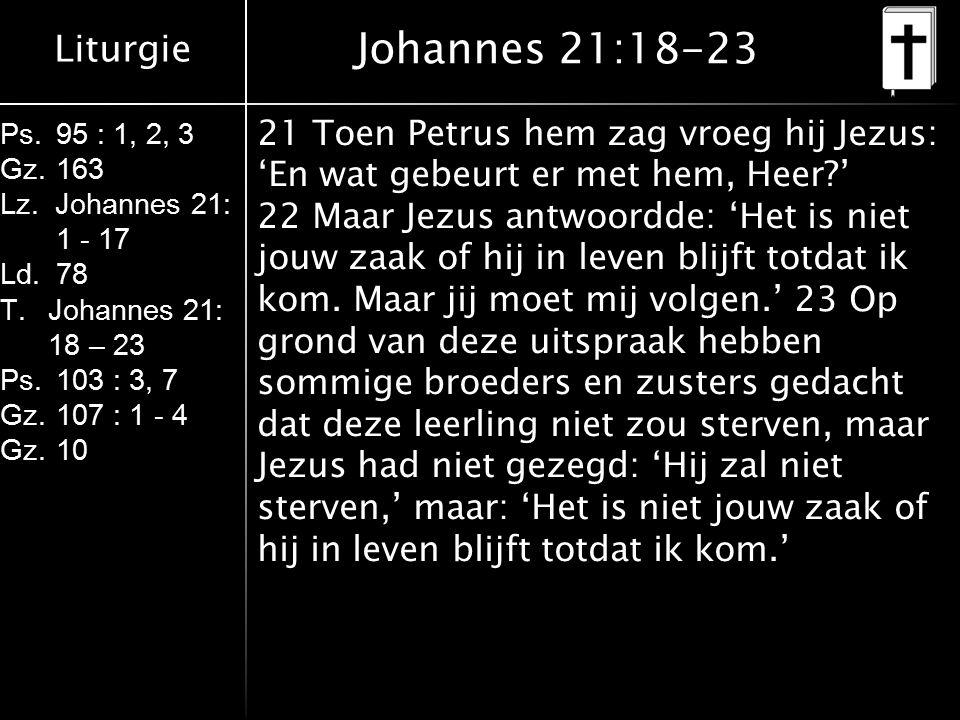 Liturgie Ps.95 : 1, 2, 3 Gz.163 Lz.