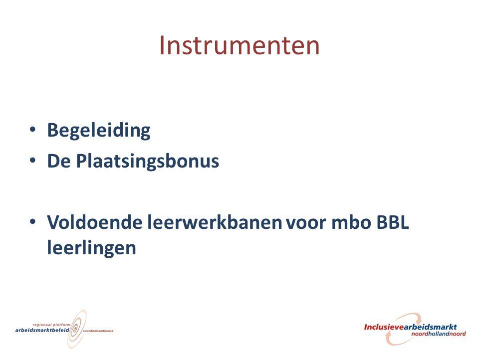 Instrumenten Begeleiding De Plaatsingsbonus Voldoende leerwerkbanen voor mbo BBL leerlingen