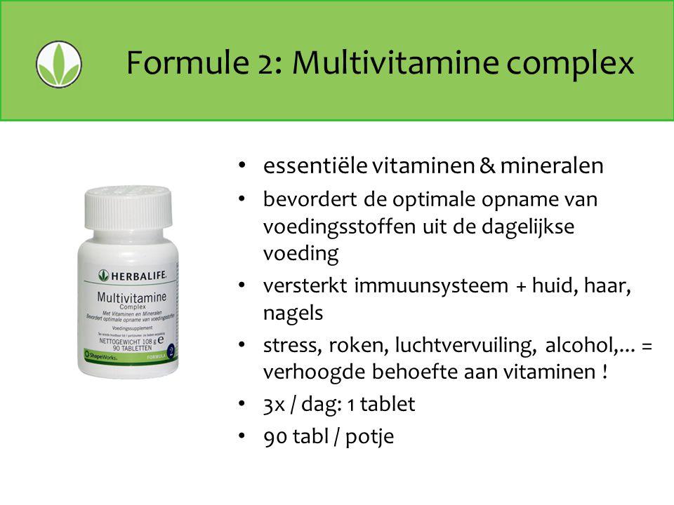 Formule 2: Multivitamine complex essentiële vitaminen & mineralen bevordert de optimale opname van voedingsstoffen uit de dagelijkse voeding versterkt