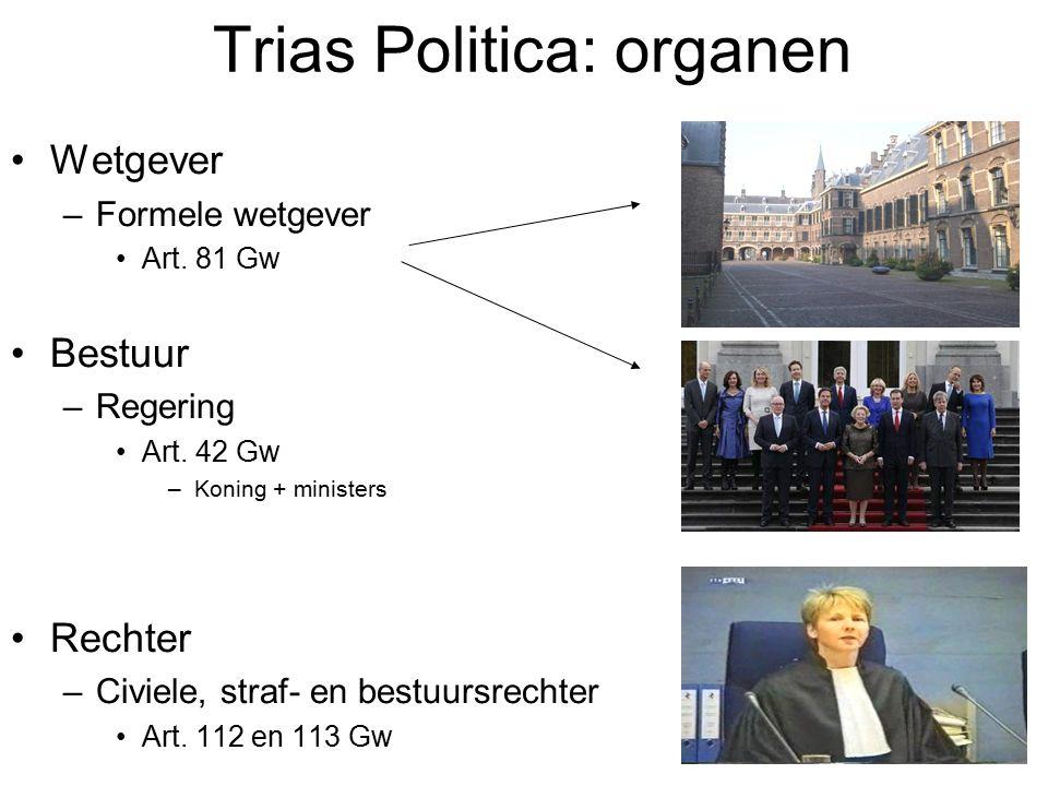 Trias Politica: organen Wetgever –Formele wetgever Art.