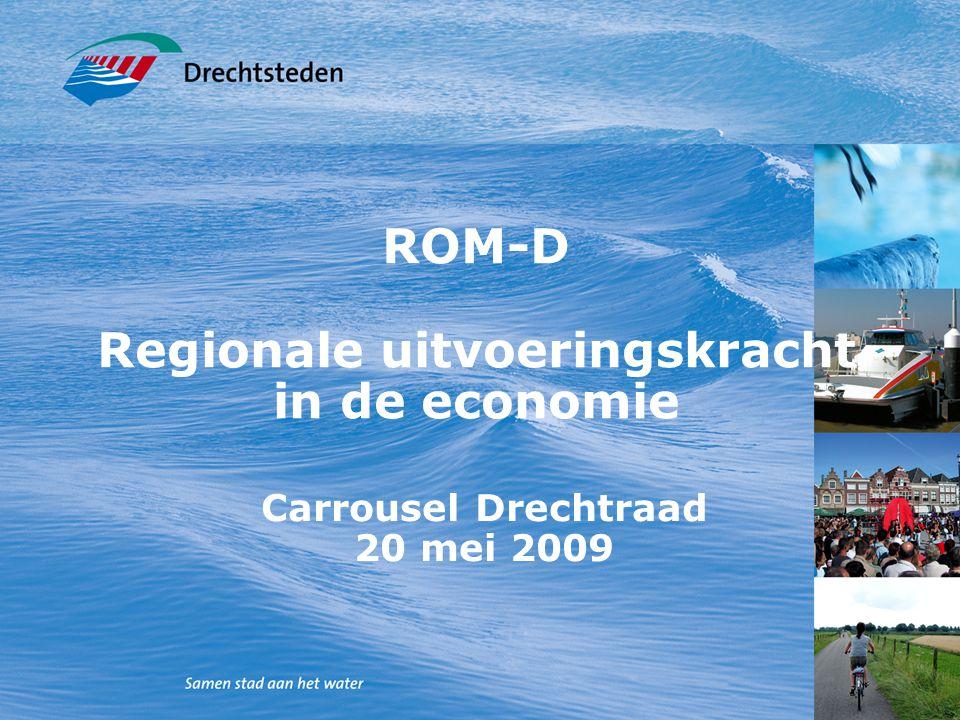 ROM-D Regionale uitvoeringskracht in de economie Carrousel Drechtraad 20 mei 2009