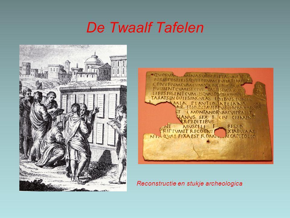 De Twaalf Tafelen Reconstructie en stukje archeologica