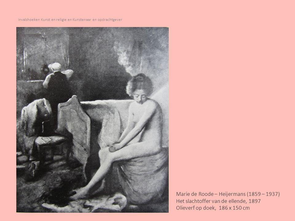 Invalshoeken Kunst en religie en Kunstenaar en opdrachtgever Gerardus Terlaak (1820 – 1865) Rijke dame bezoekt arm huisgezin, 1853