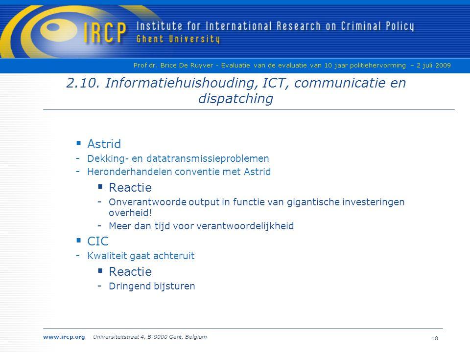 www.ircp.org Universiteitstraat 4, B-9000 Gent, Belgium Prof dr.