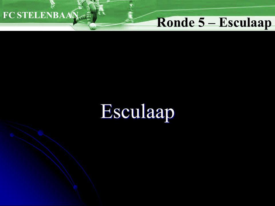 Esculaap FC STELENBAAN Ronde 5 – Esculaap