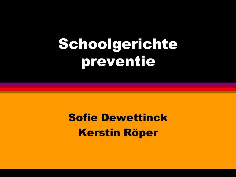 Schoolgerichte preventie Sofie Dewettinck Kerstin Röper