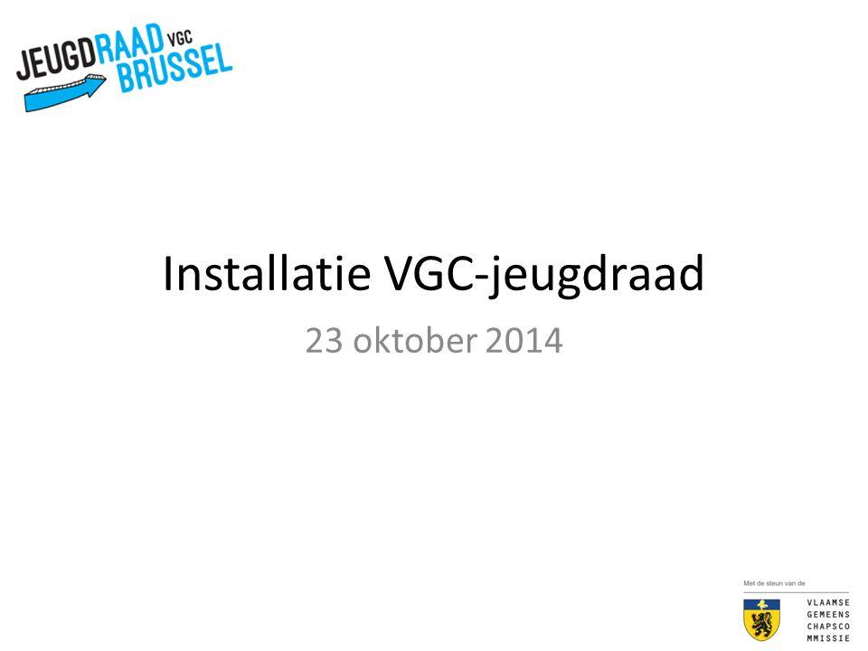 Installatie VGC-jeugdraad 23 oktober 2014