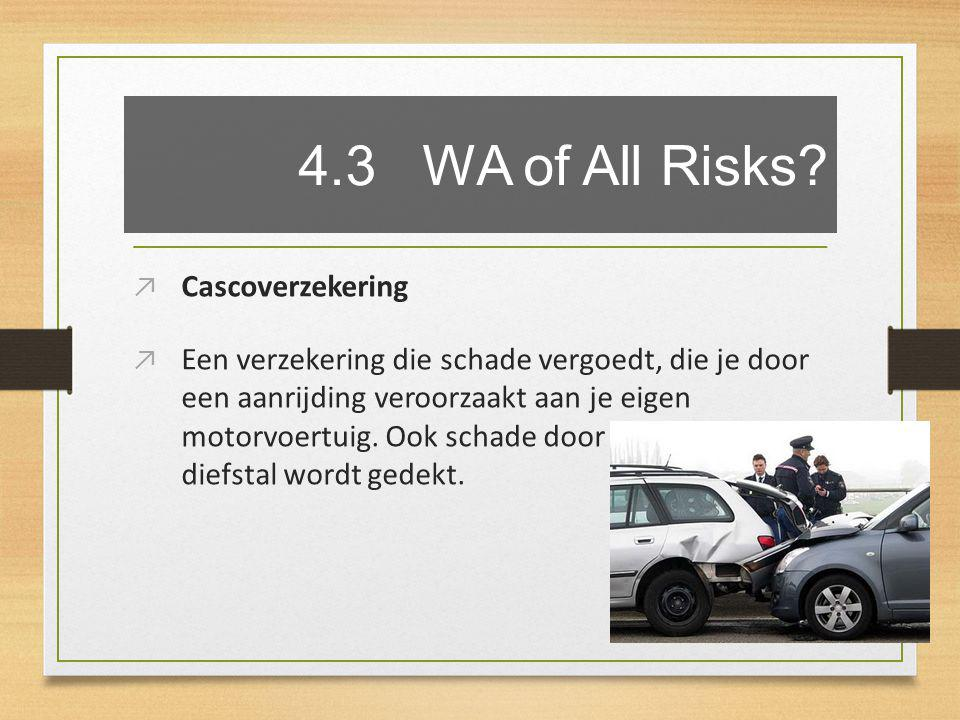 4.3 WA of All Risks.