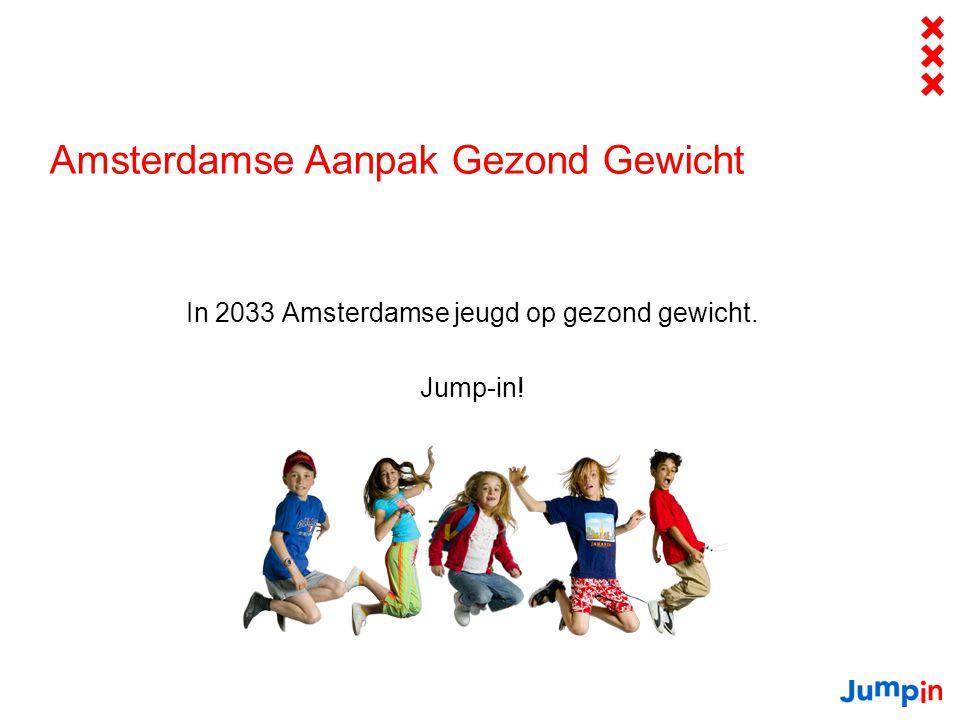 Amsterdamse Aanpak Gezond Gewicht In 2033 Amsterdamse jeugd op gezond gewicht. Jump-in!