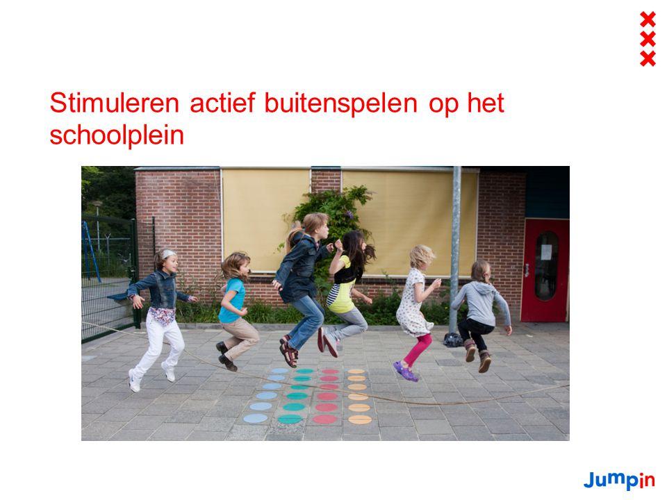 Stimuleren actief buitenspelen op het schoolplein