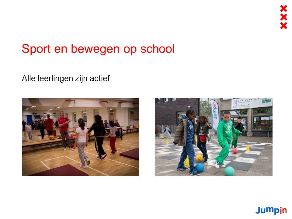 Sport en bewegen op school Alle leerlingen zijn actief.