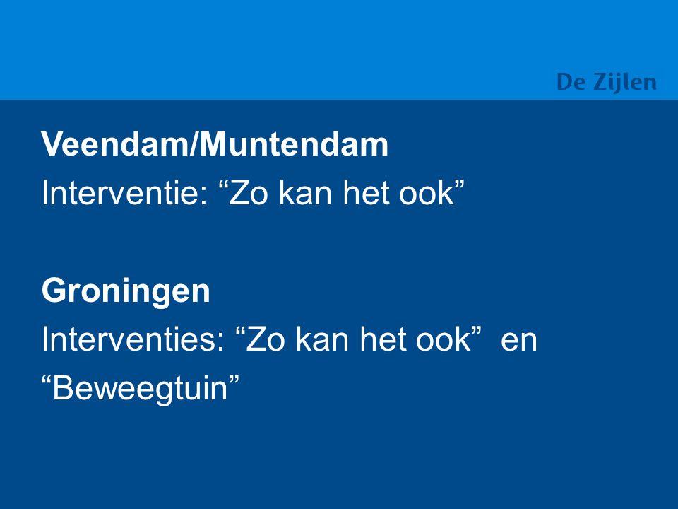 Veendam/Muntendam Interventie: Zo kan het ook Groningen Interventies: Zo kan het ook en Beweegtuin