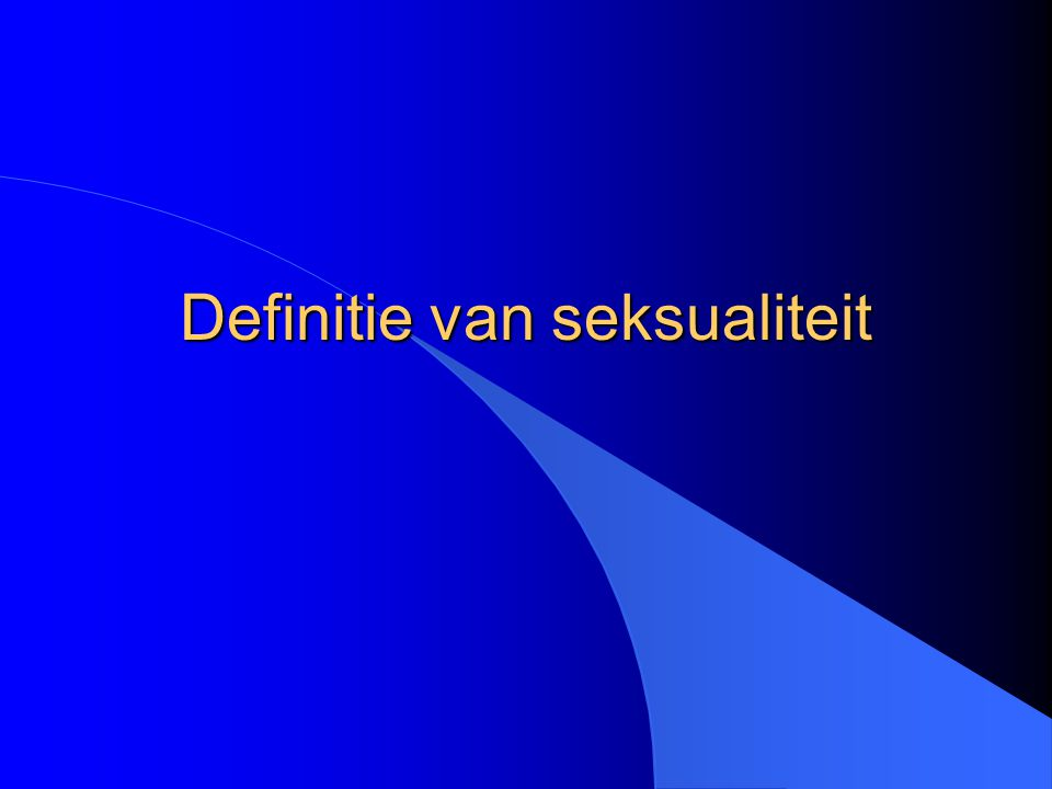 27 april 2005Paul Enzlin - VSBS4 Wat is seksualiteit .