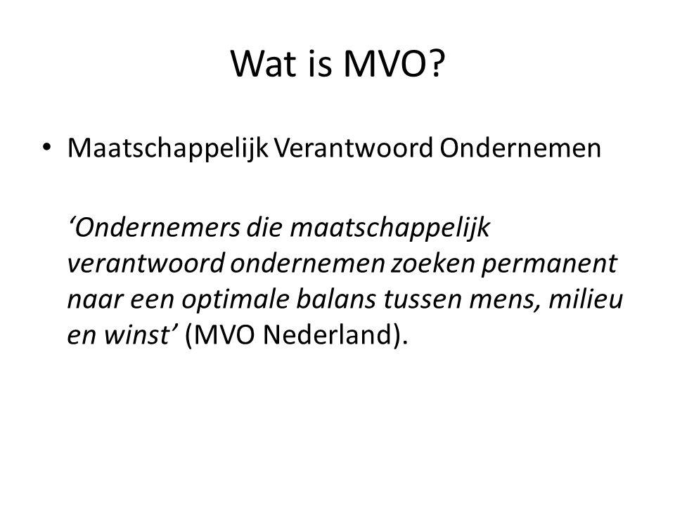 Wat is MVO.