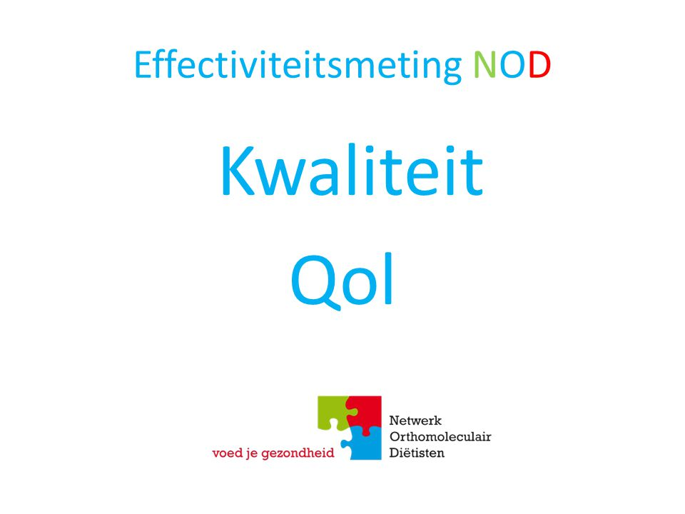 Effectiviteitsmeting NOD Kwaliteit Qol