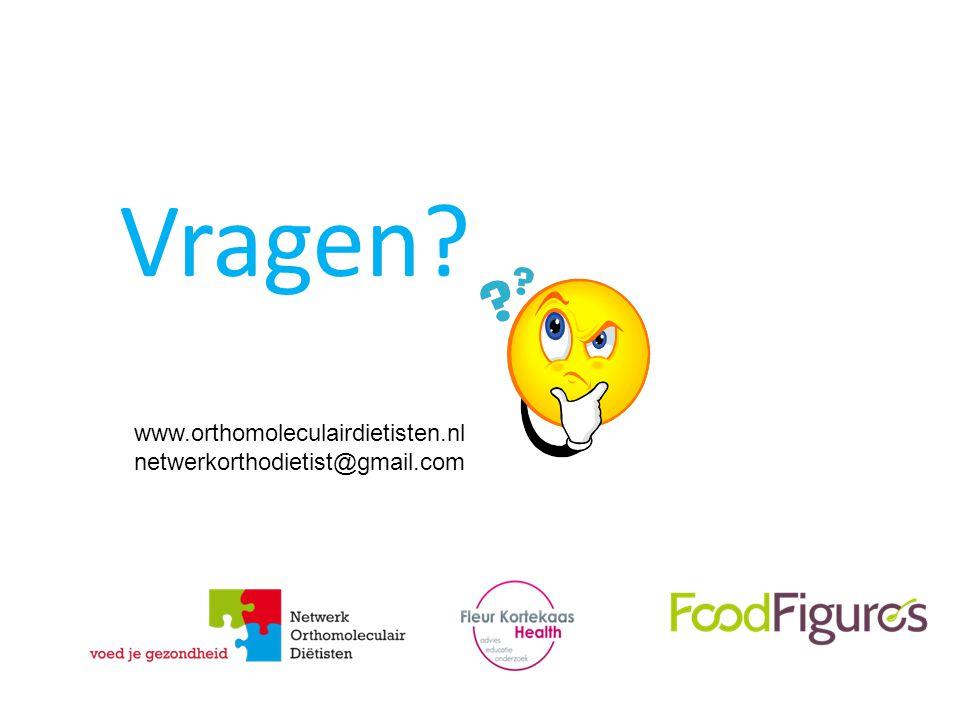 Vragen? www.orthomoleculairdietisten.nl netwerkorthodietist@gmail.com