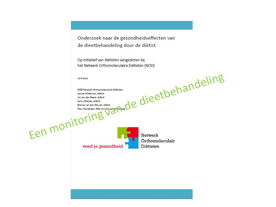 Een monitoring van de dieetbehandeling
